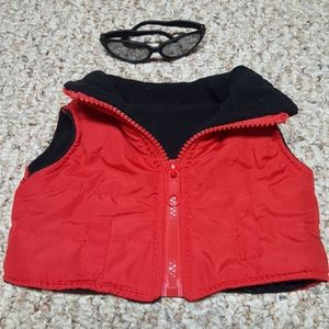Build a Bear vest and sunglasses